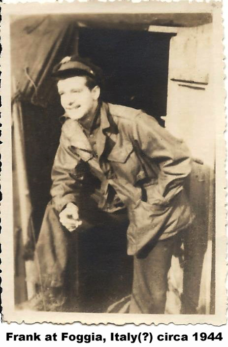 Flight Officer - Navigator Frank Funk in 1944
