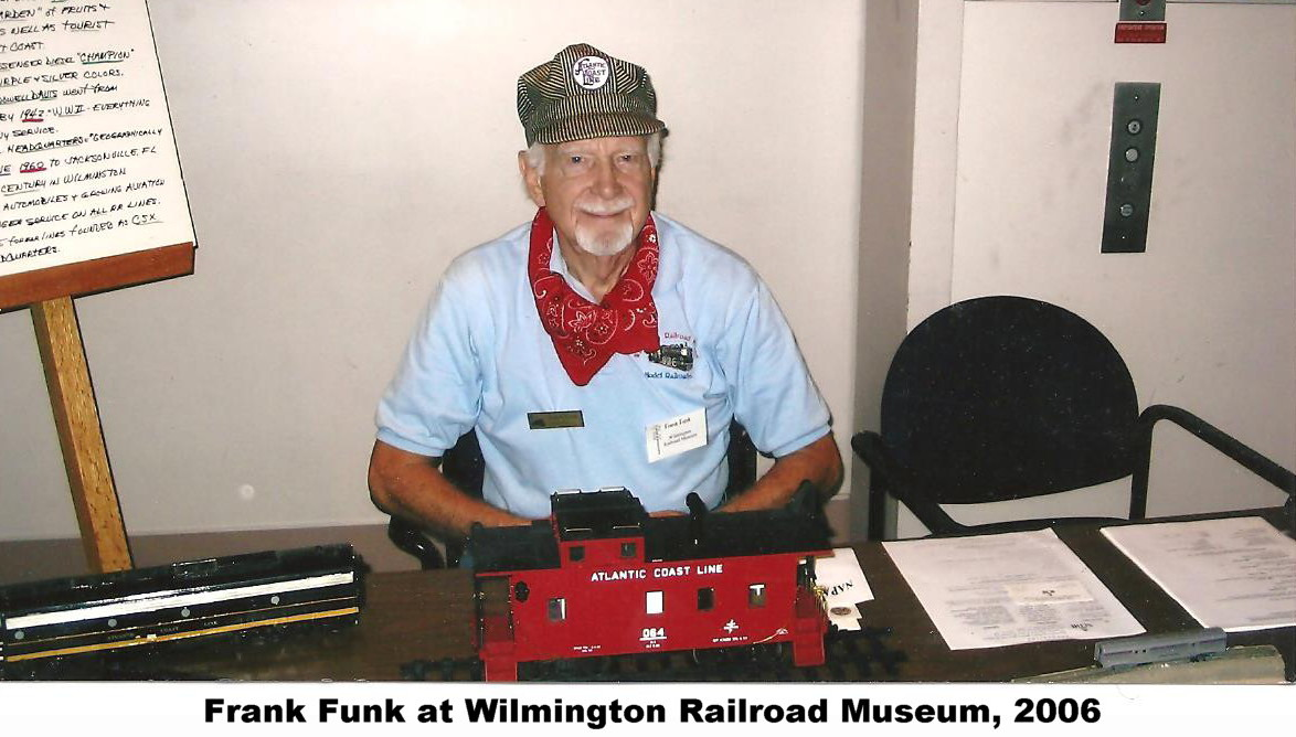 Frank Funk at Wilmington Railroad Museum