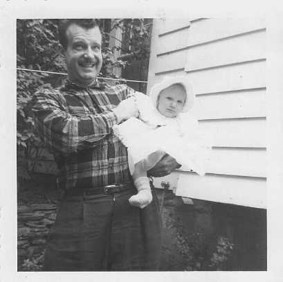 Dad and me circa 1957