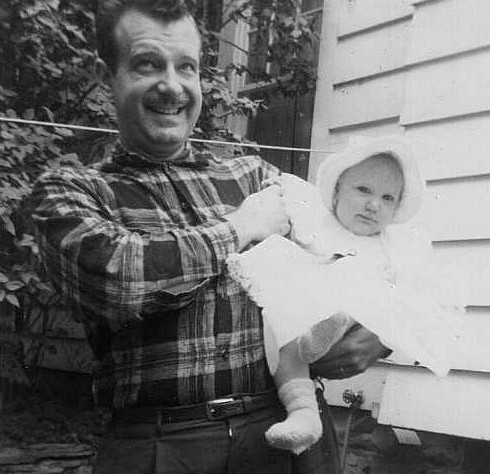 Frank and baby Karen in 1957