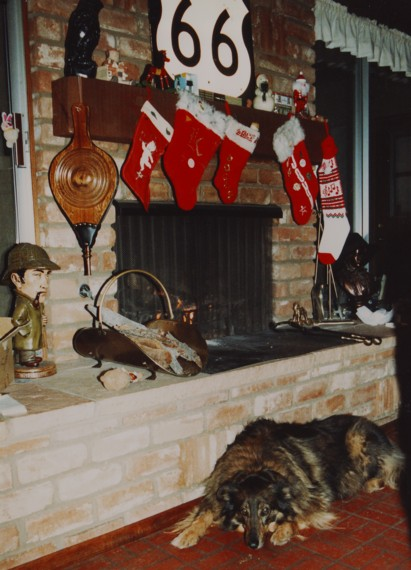 Jenny at Christmas, 1986