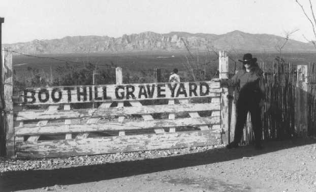 the entrance to Boot Hill, 1986. Photo by JBlocher.