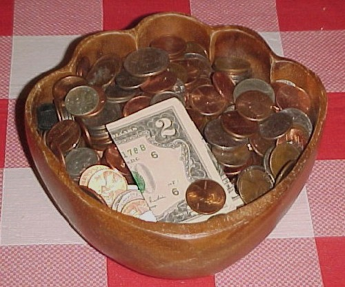 John's bowl o' change - plus $2