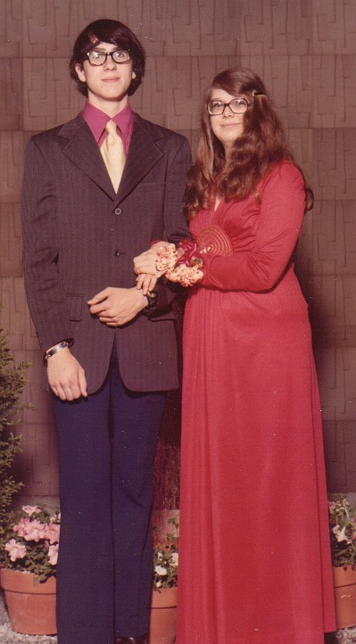 Dan and Karen at the junior prom, F-M High school, 1974.