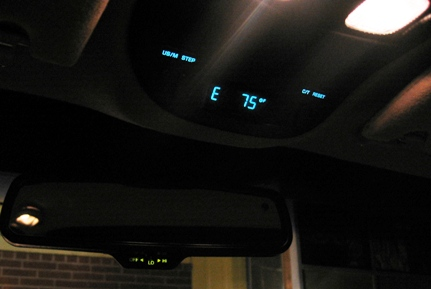This is so cool! Direction and cabin temperature!