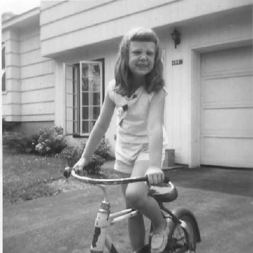 Karen Funk at home in Manlius, 1964.