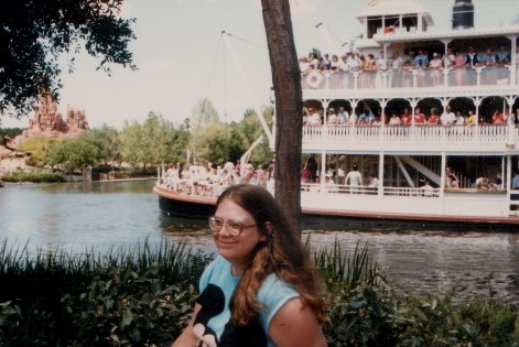 Me in the fake South of Walt Disney World, 1986.