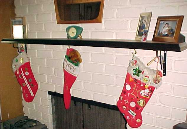the traditional stockings, hung by the chimney with care.