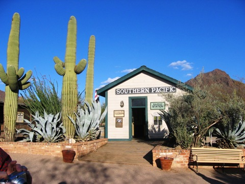 Old Tucson's replica train depot