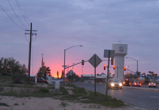 sunset at the Davis-Monthan tower