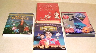 Mary Poppins  book and 3 DVDs