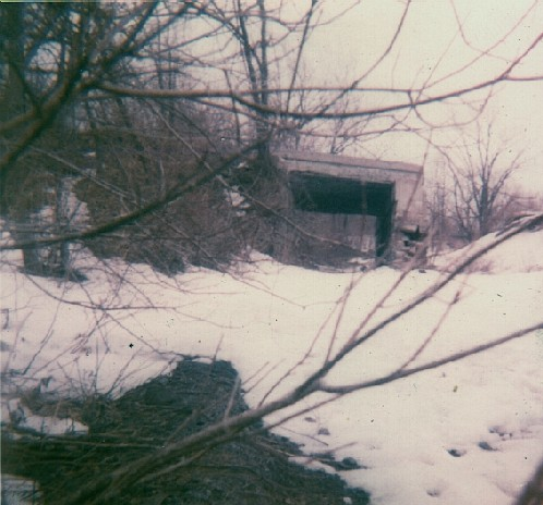 winter of 1970-1971. Note the missing part of the bridge.