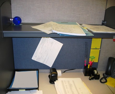 All paperwork carefully obscured