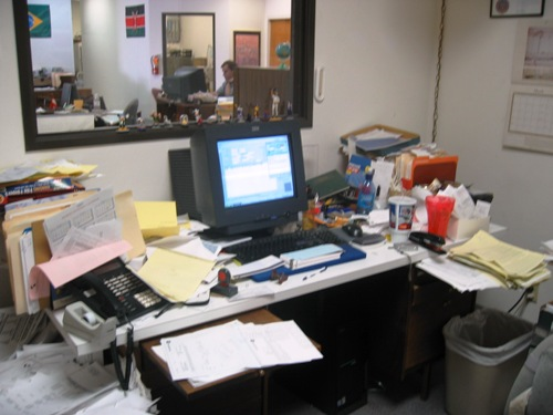 Before: my desk at work, 3/18