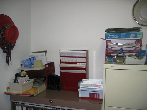 After: top of main filing cabinet, 5/6/05