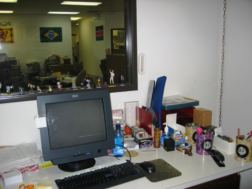 After: right side of my desk, 5/6/05