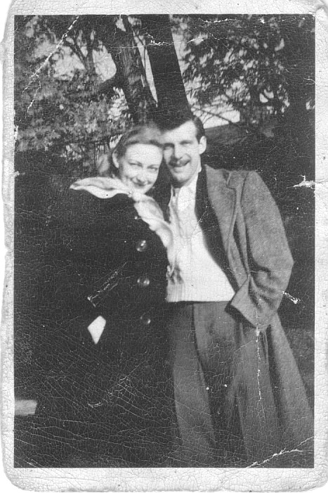 Ruth Anne Johnson and Frank E Funk in 1949.