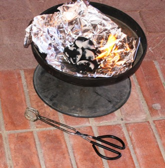 the coals for the incense.