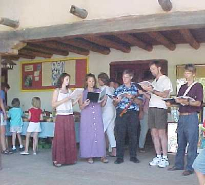 madrigal singers serenade York