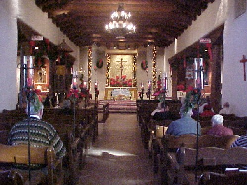 Christmas 2004, before the 10 AM Mass.